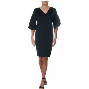 Lauren Ralph Lauren Flutter-Sleeve Shift Dress